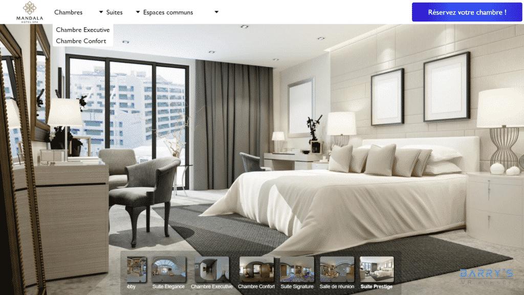 Visite virtuelle d'un hôtel
