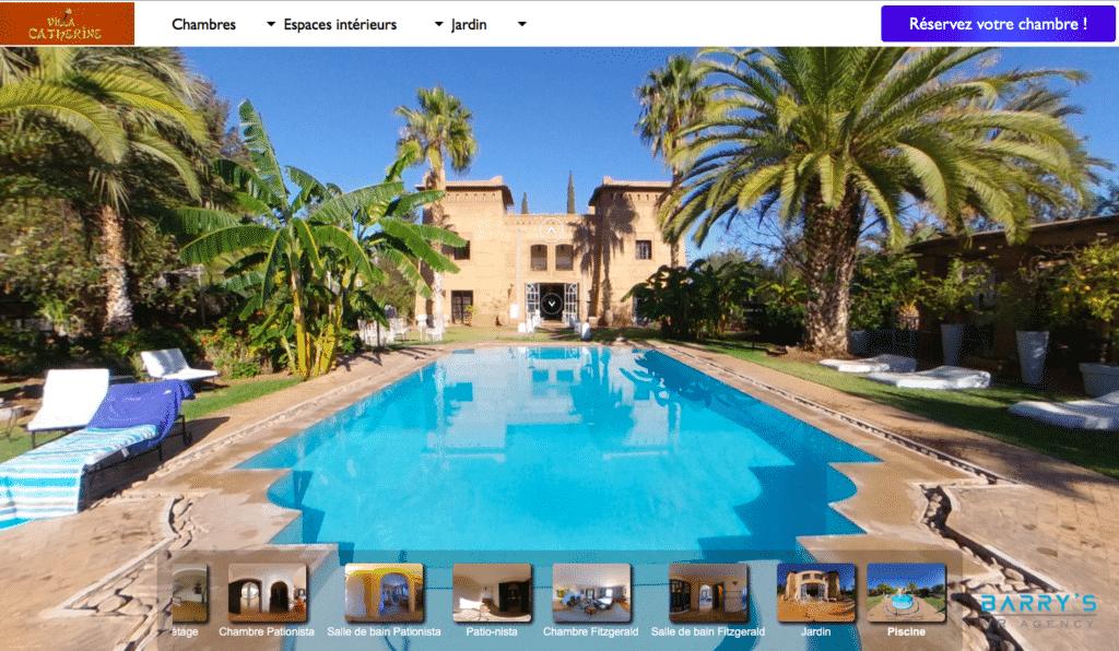 Visite virtuelle hôtel Villa Catherine Marrakech