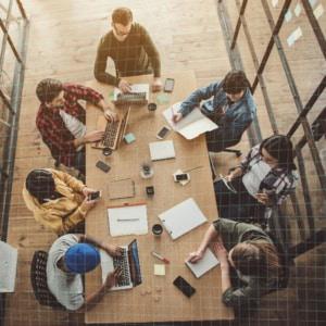 Brainstorming d'une équipe