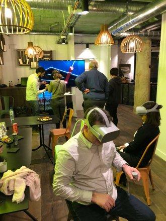 animation en réalité virtuelle organisée dans une entreprise